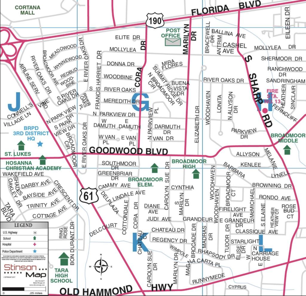 Broadmoor Subdivision Baton Rouge