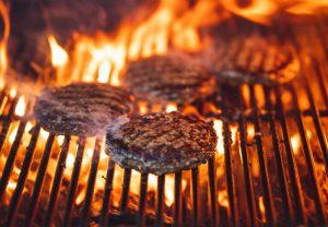 hamburger grilling in baton rouge
